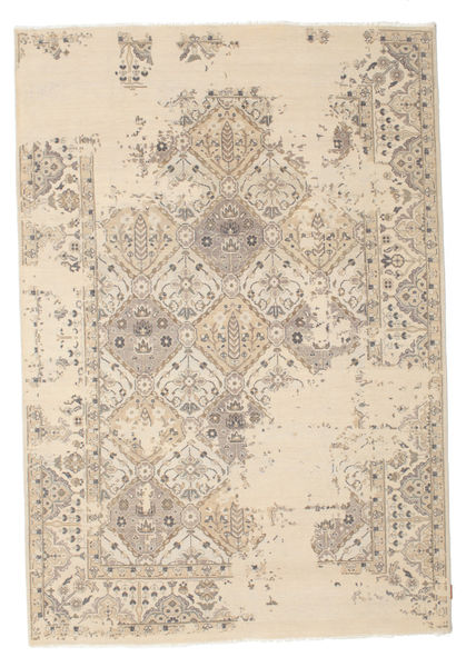 Himalaya Rug 188X276 Authentic  Modern Handknotted Beige/Light Grey (Wool, India)