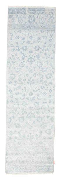 Himalaya 絨毯 84X294 モダン 手織り 廊下 カーペット 薄い灰色/ホワイト/クリーム色/水色 ( インド)