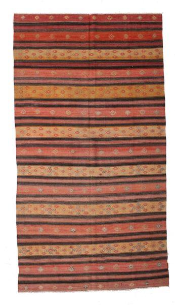 Kilim Semi Antique Turkish Rug 180X336 Authentic  Oriental Handwoven Brown/Light Brown/Dark Brown (Wool, Turkey)