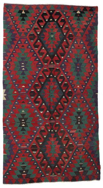 Kilim Semi Antique Turkish Rug 167X310 Authentic  Oriental Handwoven Dark Red/Black (Wool, Turkey)