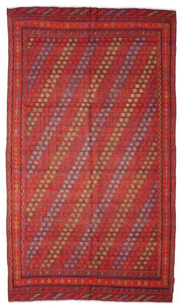 Kelim Halvt Antikke Tyrkiske Teppe 181X312 Ekte Orientalsk Håndvevd Mørk Rød/Brun (Ull, Tyrkia)