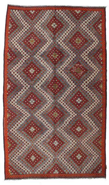 Kilim Semi Antique Turkish Rug 185X315 Authentic  Oriental Handwoven Brown/Light Brown/Dark Brown (Wool, Turkey)