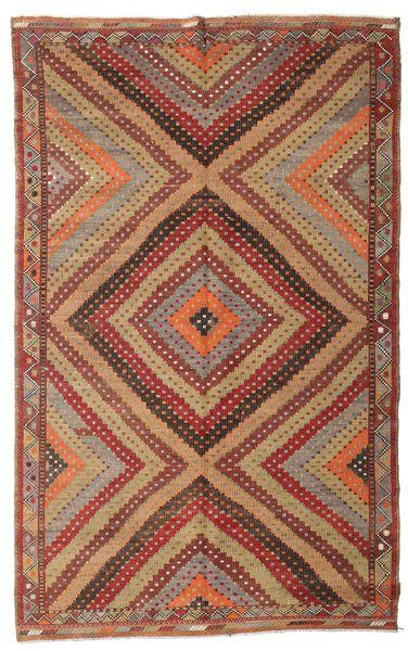 Kelim Semiantiikki Turkki Matto 194X310 Itämainen Käsinkudottu Vaaleanruskea/Tummanpunainen (Villa, Turkki)
