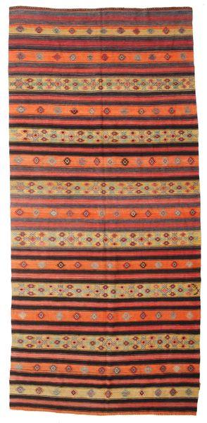 Kilim Semi Antique Turkish Rug 175X375 Authentic  Oriental Handwoven Brown/Orange (Wool, Turkey)