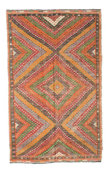 Kilim Semi Antique Turkish Rug 162X265 Authentic  Oriental Handwoven Dark Red/Light Brown (Wool, Turkey)
