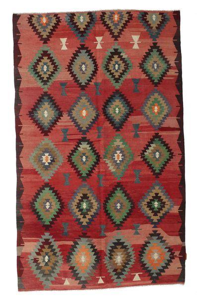 Kelim Halbantik Türkei Teppich  174X285 Echter Orientalischer Handgewebter Dunkelrot/Braun (Wolle, Türkei)
