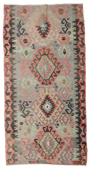 Kilim Semi Antique Turkish Rug 168X323 Authentic  Oriental Handwoven Light Brown/Brown (Wool, Turkey)