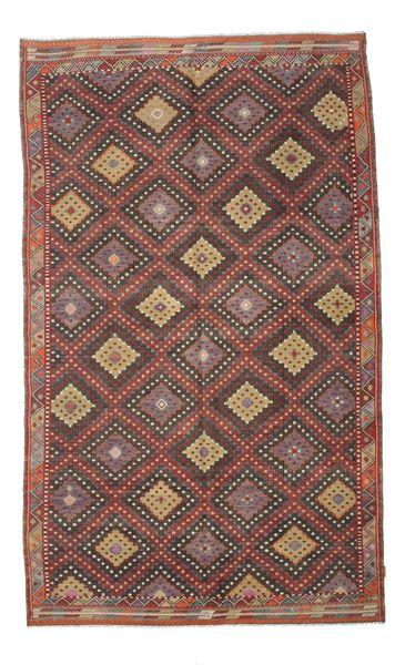 Kilim Semi Antique Turkish Rug 191X314 Authentic  Oriental Handwoven Dark Red/Dark Grey (Wool, Turkey)