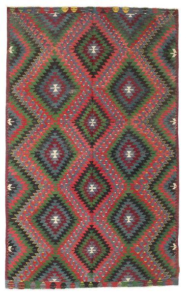 Kilim Semi Antique Turkish Rug 185X300 Authentic  Oriental Handwoven Dark Grey/Dark Red (Wool, Turkey)