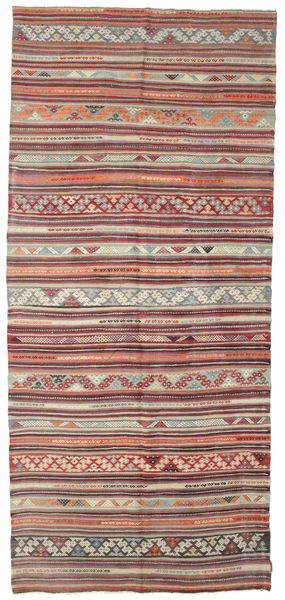 Kelim Semiantiikki Turkki Matto 173X393 Itämainen Käsinkudottu Käytävämatto Vaaleanruskea/Ruskea (Villa, Turkki)