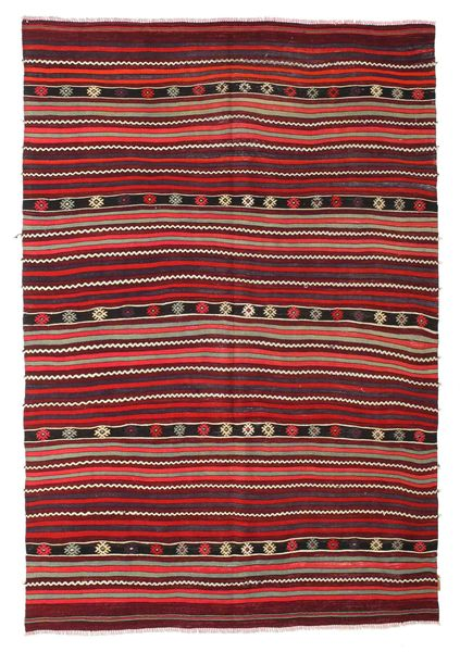 Tapis Kilim semi-antique Turquie XCGZK874