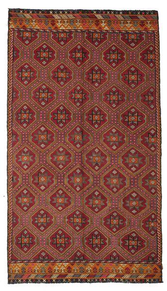 Kilim Semi Antique Turkish Rug 172X301 Authentic  Oriental Handwoven Dark Red/Dark Brown (Wool, Turkey)