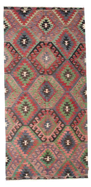 Kilim Semi Antique Turkish Rug 151X315 Authentic  Oriental Handwoven Dark Grey/Dark Red (Wool, Turkey)
