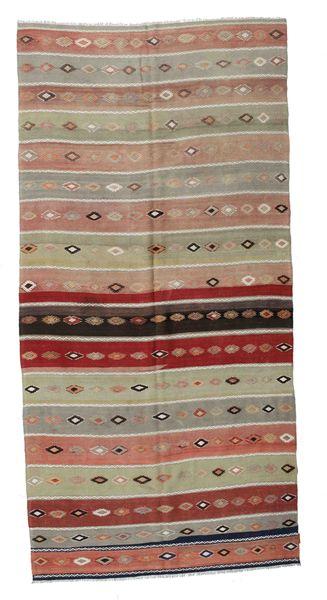 Kilim Semi Antique Turkish Rug 174X360 Authentic  Oriental Handwoven Light Brown/Brown (Wool, Turkey)