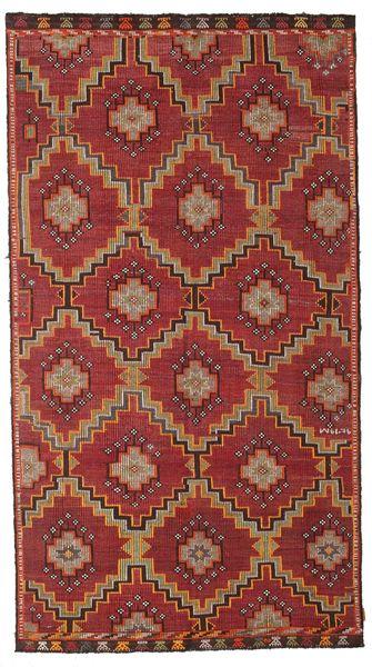 Kelim Halbantik Türkei Teppich  175X318 Echter Orientalischer Handgewebter Dunkelrot/Dunkelbraun (Wolle, Türkei)
