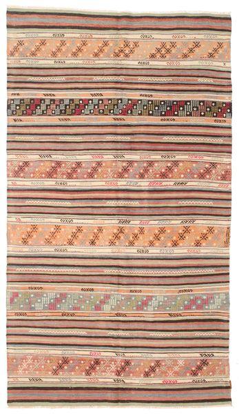 Kilim Semi Antique Turkish Rug 163X290 Authentic  Oriental Handwoven Light Brown/Brown/Light Pink (Wool, Turkey)