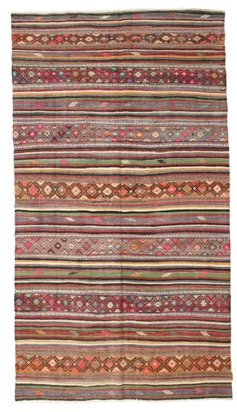 Kilim Semi Antique Turkish Rug 175X313 Authentic  Oriental Handwoven Dark Brown/Light Brown (Wool, Turkey)