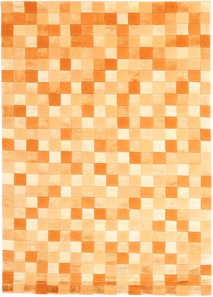 Himalaya 絨毯 140X200 モダン 手織り 薄茶色/暗めのベージュ色の/オレンジ ( インド)