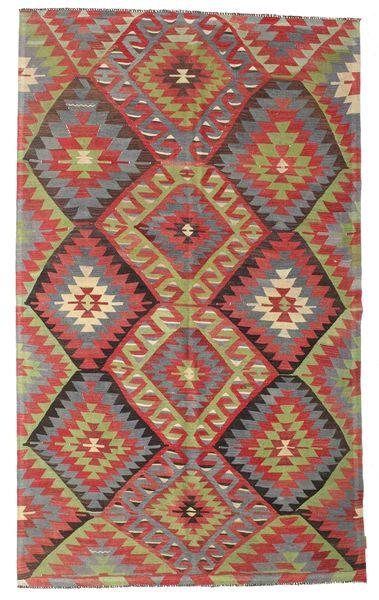 Kelim Halvt Antikke Tyrkiske Teppe 176X292 Ekte Orientalsk Håndvevd Brun/Mørk Rød (Ull, Tyrkia)