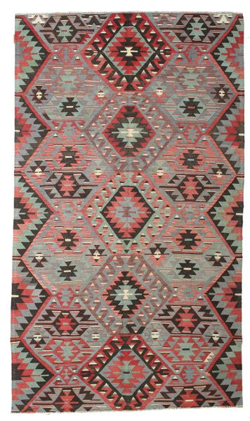 Kilim Semi Antique Turkish Rug 167X288 Authentic  Oriental Handwoven Dark Grey/Light Brown (Wool, Turkey)