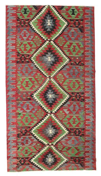 Kilim Semi Antique Turkish Rug 165X307 Authentic  Oriental Handwoven Dark Red/Crimson Red (Wool, Turkey)