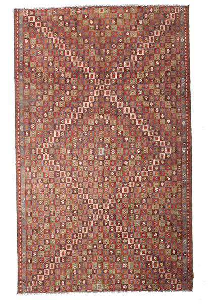 Kilim Semi Antique Turkish Rug 180X292 Authentic  Oriental Handwoven Dark Red/Dark Brown (Wool, Turkey)