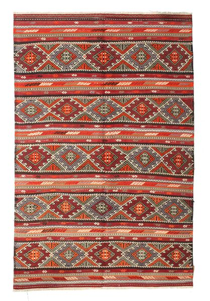 Kilim Semi Antique Turkish Rug 176X270 Authentic  Oriental Handwoven Brown/Dark Red (Wool, Turkey)