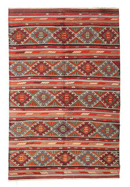 Kelim Semiantiikki Turkki Matto 176X270 Itämainen Käsinkudottu Ruskea/Tummanpunainen (Villa, Turkki)