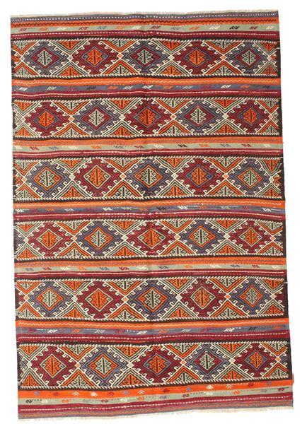 Kilim Semi Antique Turkish Rug 180X266 Authentic  Oriental Handwoven Brown/Dark Brown (Wool, Turkey)