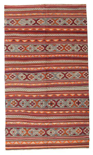 Kilim Semi Antique Turkish Rug 187X321 Authentic  Oriental Handwoven Dark Red (Wool, Turkey)