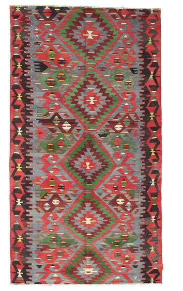 Kilim Semi Antique Turkish Rug 167X307 Authentic  Oriental Handwoven Dark Red/Dark Brown (Wool, Turkey)