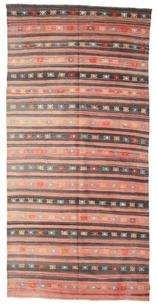 Kilim Semi Antique Turkish Rug 174X362 Authentic  Oriental Handwoven Light Brown/Light Pink (Wool, Turkey)