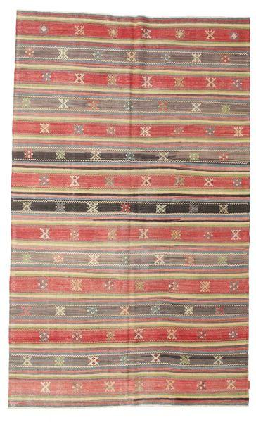 Kelim Semiantiikki Turkki Matto 184X300 Itämainen Käsinkudottu Vaaleanruskea/Tummanbeige (Villa, Turkki)