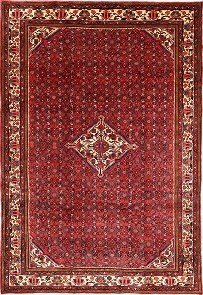 Hosseinabad Rug 200X290 Authentic  Oriental Handknotted Dark Red/Dark Brown (Wool, Persia/Iran)