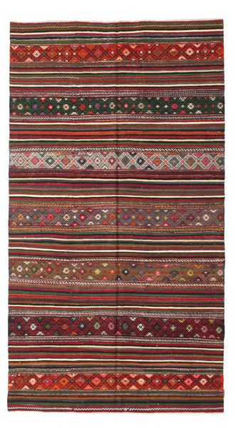 Kilim Semi Antique Turkish Rug 183X334 Authentic  Oriental Handwoven Brown/Dark Red (Wool, Turkey)