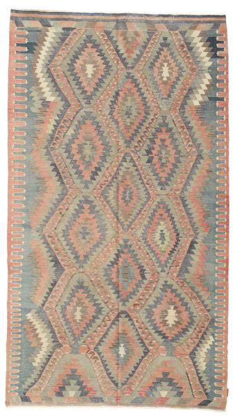 Kelim Semiantik Turkisk Matta 182X325 Äkta Orientalisk Handvävd Ljusbrun/Ljusgrå (Ull, Turkiet)