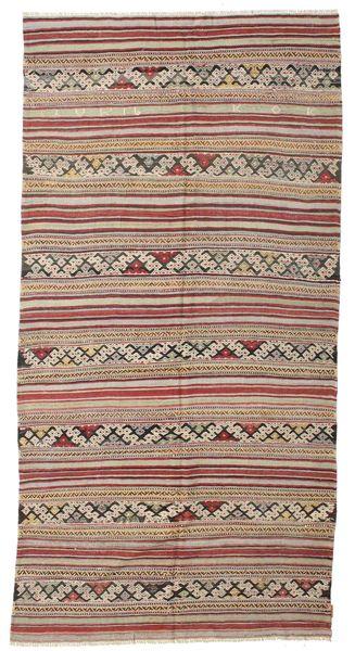 Kilim Pół -Antyk Tureckie Dywan 157X310 Orientalny Tkany Ręcznie Jasnobrązowy/Brązowy (Wełna, Turcja)