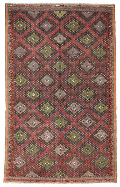 Kelim Semiantik Turkisk Matta 200X326 Äkta Orientalisk Handvävd Ljusbrun/Mörkgrå/Brun (Ull, Turkiet)