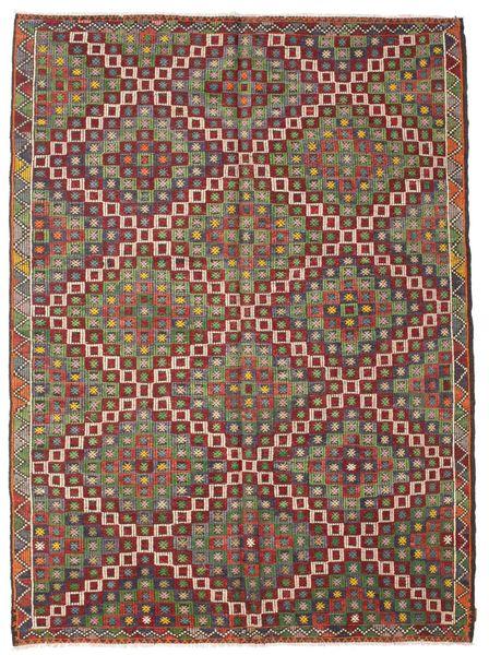 Kelim Semiantiikki Turkki Matto 220X297 Itämainen Käsinkudottu Ruskea/Tummanruskea (Villa, Turkki)