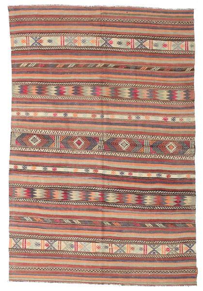 Kelim Semi-Antiek Turkije Tapijt 183X268 Echt Oosters Handgeweven Lichtbruin/Bruin (Wol, Turkije)
