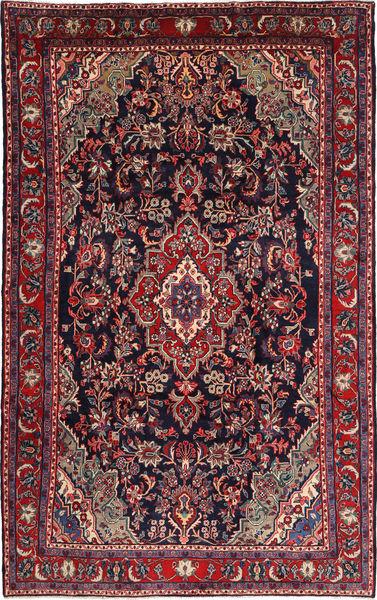 Hamadan Shahrbaf Matto 215X335 Itämainen Käsinsolmittu Tummanpunainen/Tummanvioletti (Villa, Persia/Iran)
