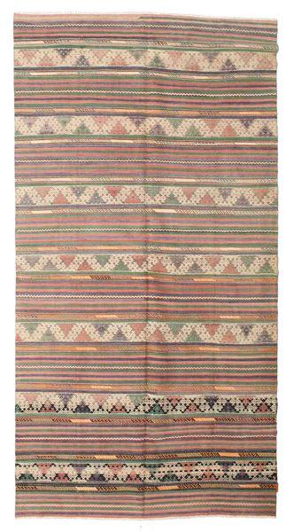 Kilim Semi Antique Turkish Rug 172X328 Authentic  Oriental Handwoven Light Brown/Light Pink (Wool, Turkey)