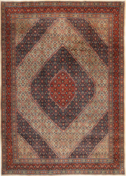 Moud Matta 210X300 Äkta Orientalisk Handknuten Mörkröd/Mörkbrun (Ull, Persien/Iran)