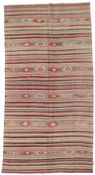 Kilim Semi Antique Turkish Rug 171X323 Authentic  Oriental Handwoven Brown/Light Brown (Wool, Turkey)