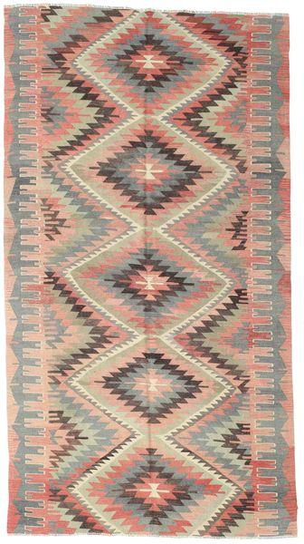 Chilim Semi-Antic Turcia Covor 164X304 Orientale Lucrate De Mână Roz Deschis/Bej Închis (Lână, Turcia)