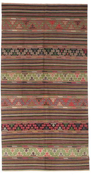 Kilim Semi Antique Turkish Rug 170X325 Authentic  Oriental Handwoven Brown/Light Brown (Wool, Turkey)
