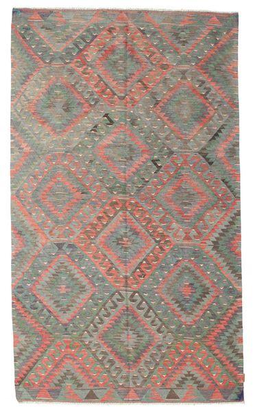 Kelim Semiantiikki Turkki Matto 174X300 Itämainen Käsinkudottu Vaaleanruskea/Tummanharmaa (Villa, Turkki)