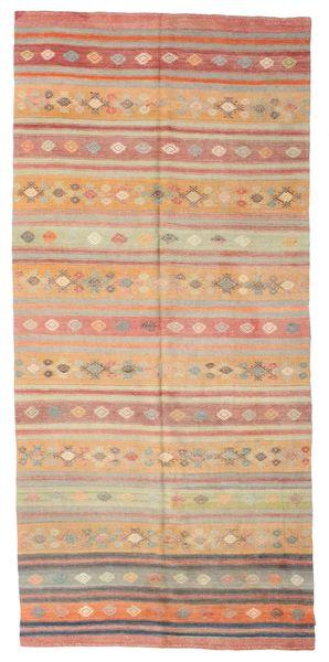 Kilim Semi Antique Turkish Rug 167X362 Authentic  Oriental Handwoven Light Brown/Light Pink (Wool, Turkey)