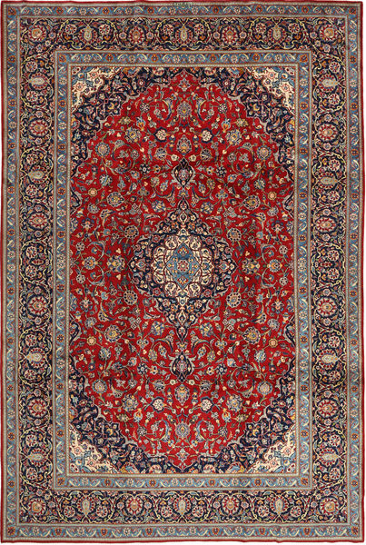 Keshan Teppe 250X377 Ekte Orientalsk Håndknyttet Brun/Lysbrun Stort (Ull, Persia/Iran)