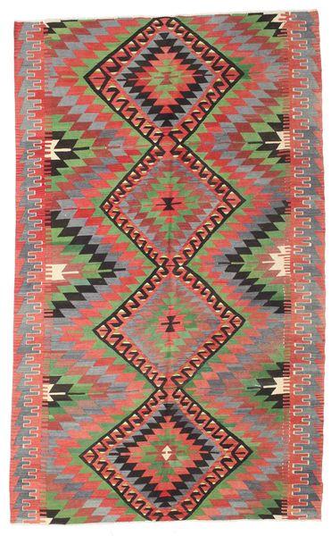 Kilim Semi Antique Turkish Rug 194X314 Authentic  Oriental Handwoven Dark Grey/Brown (Wool, Turkey)